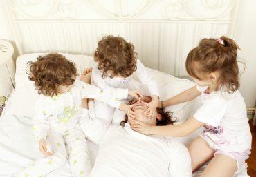 Kids trying to stop snoring dad